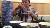 【大胃王】铃木MAX【4倍速】挑战汤炒饭(9.5kg),最后碗叠起来像座山!太牛了!状态恢复。
