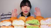 [吃播剪说话]*young-ee*奶油面包8个:草莓、抹茶红豆、希腊酸奶、红豆沙-20200212咀嚼音