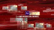 AE制作科技图文展示框模板教程,红色党展示教程 制作红色布帘效果不用任何素材科技背景 图片展示 扫光金属文字黄金文字 网格地面 马赛克地 科技玻璃框17感课堂