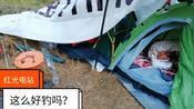 南充南部县:升钟西河红光电站,成都来的钓鱼人撑帐篷都钓几天了