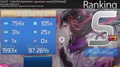 (osu)2.36☆hd+hr mod-Claris-colorful- fc