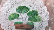 儿童美术亲子课《盆景罗汉》材料水彩笔 裱花纸