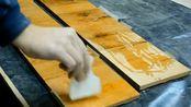 制作边桌用旧橡木Side table made from old oak beam