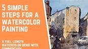 如何5步画出成功的水彩风景 - Painting demo from Tim Wilmot #59