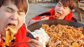 【ddeonggaeTV】在乡下吃五花肉和炒饭 Donkey-弟弟吃播