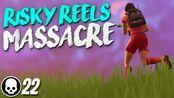 [Tfue]RISKY REELS MASSACRE! 22 Kill Solo Gameplay (Fortnite Battle Royale)