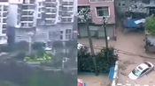 贵州省沿河县由于近期暴雨!水涝严重!房屋冲走!人以及骑车都冲走了!