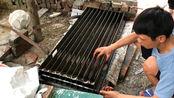 农民工制作的模具,把水泥浆倒进去,凝固做出来的产品大有用处!