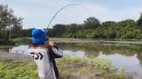 小伙在河边钓鱼,原以为鱼儿上钩了,结果冲出一只猛兽