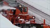 【曼巴米尔西】超舒服的画面 原来火车在雪地中是这样前进的!超美