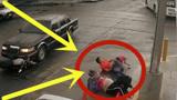 丈夫带妻子做产检,谁料半路发生意外,监控拍下惊险40秒!