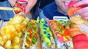 【phan】寿司卷,三文鱼生鱼片,金枪鱼生鱼片,天妇罗蔬菜(2020年3月4日20时40分)