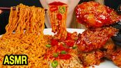 【evlin】助眠新火面+韩式炸鸡+香菇、、吃音木桶(2019年10月23日20时35分)