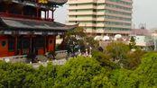 无人机航拍湖北武汉与黄鹤楼、古琴台并称三大名胜之一的古晴川阁