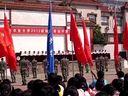 2012山东农业大学新生军训开训仪式教官军体拳表演