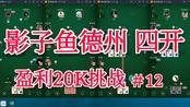 【影子鱼德州#28】20K盈利挑战继续,无解说版本 德州扑克20K盈利挑战 第十二期