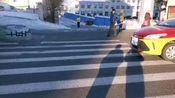 2020年,黑龙江省鹤岗市的清雪效果