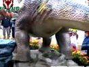 自贡仿真恐龙制作  三角龙(下蛋)