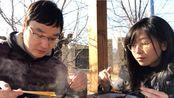 户外吃热热乎乎的海底捞自热小火锅——疫情放风吃播聊天