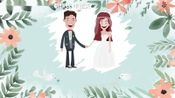 小清新森林系婚庆开场LED大屏背景婚纱照片MV短片结婚电子请帖相册视频制作剪辑