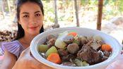 姑娘告诉你木瓜怎么吃,关键是跟啥一起做。青木瓜炖牛肉,营养绝对够