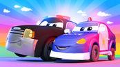 汽车城之拖车汤姆 第3季 第43集 警车不小心撞到了电杆