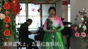 冬泳奶奶爱唱歌 歌曲《红旗颂》演唱者:韩丽萍