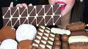 ☆ Hazelnut Crush ☆|陪吃早餐|多种梦龙巧克力脆皮冰淇淋、Twix能量棒、巧克力排、奇巧威化棒、巧克力块、巧克力球、自制红豆大福 食音咀嚼音