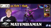MATUMBAMAN - Void Spirit MID   vs Crit + Ceb   7.26 Update Patch   Dota 2 Pro MM