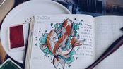 【肥湾湾手帐#05】和我一起写hobonichi五年手帐吧!  画条锦鲤送给你,愿你健康喜乐! 画朵小fafa送给你,愿你以后生活多姿多彩!