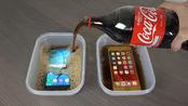 把手机放入可乐中冰冻一天,拿出来后手机还能用吗?外国小哥实验