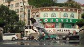 【机械哥Nonstop】在中国银行前Freestyle舞蹈Hallucinate