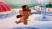 猫和老鼠:小老鼠一秒把巨大的鸡腿给干掉,吃得只剩骨头!
