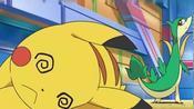 宝可梦:皮卡丘洗级严重,小智对战修帝,皮卡丘再次输给青藤蛇