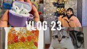 vlog#23 真香女孩|AirPods开箱 |jk开箱 |HOBO五年书衣|逛街逛街