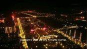 江西省 抚州市 航拍夜景