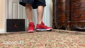 Air Jordan 4 IV FIBA Gym Red On Foot实拍上脚图 仅供欣赏