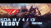 [LOL第一视角]T1 Teddy XAYAH vs KAI'SA ADC - Patch 9.24 KR Ranked