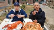 (2倍速)韩国吃播Donkey 和住在乡下的爸爸吃帝王蟹和龙虾