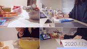 #Study With Me# 2020.01.13 2020 Spring开学第一天|早饭+午饭+学习|全程水声白噪音