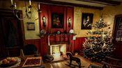 【白噪音】【学习向】【放松】1800年代的圣诞节休息室 (壁炉烤火声, 风雪暴, 装饰过的圣诞树, 圣诞饮品等)
