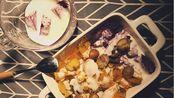 vlog.003 寝室一人食| 牛奶面包/酸奶红薯/水果拼盘