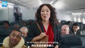 吴珊卓Sandra Oh给加拿大航空拍的广告太有意思了!