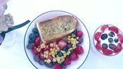 生活日志VLOG.4 |撑死了的周末早餐|葱香面包+水果酸奶