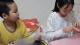 【黑龙江】得知妈妈单位没有防护面罩 姐弟俩手工制作
