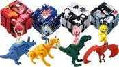 迷你特工队解救核晶少年守护者大作战!恐龙变形蛋奇趣蛋玩具