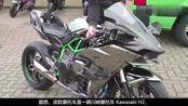 41万川崎H2摩托车被交警查了,戴盔上牌、证件齐全,最终还是放行