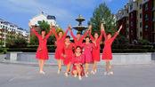 燕子青春姐妹广场舞网红32步《DJ都说》正反面团队版制作:燕子