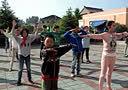 宝应特殊教育学校2014年5月13日学生做早操