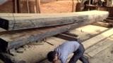 大块木板加工,这小作坊的生产能力可真大!